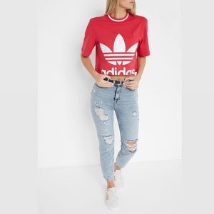 New with tags Adidas hot pink cropped tee